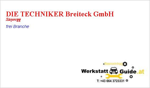 Die Techniker Breiteck Gmbh Werkstatt Guide At